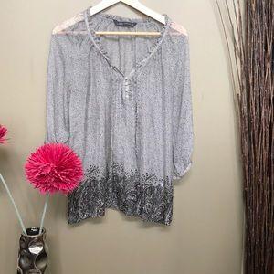 Zara sheer blouse